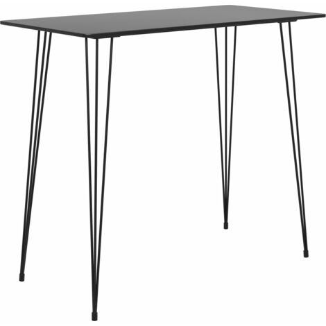 vidaXL Bar Table Black 120x60x105 cm - Black