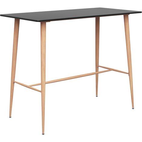 vidaXL Bar Table 120x60x105 cm Black - Black