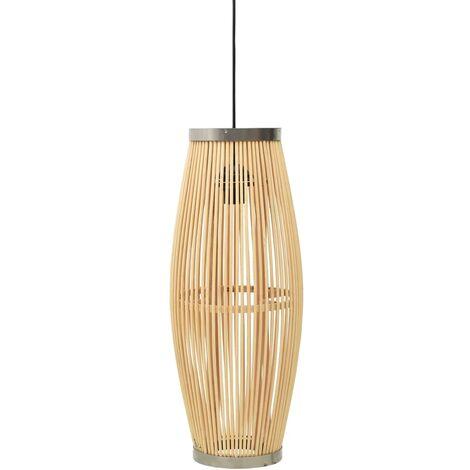 vidaXL Pendant Lamp Willow 40 W 25x62 cm Oval E27 - Brown
