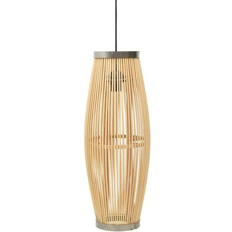 vidaXL Pendant Lamp Willow 27x68 cm 40 W Oval E27 - Brown
