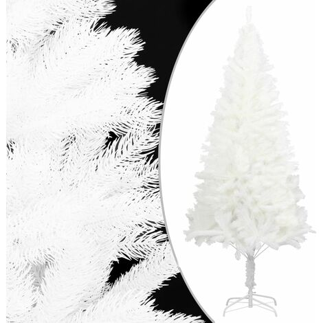 vidaXL Artificial Christmas Tree Lifelike Needles White 120 cm - White