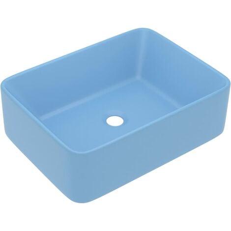 vidaXL Luxury Wash Basin Matt Light Blue 41x30x12 cm Ceramic