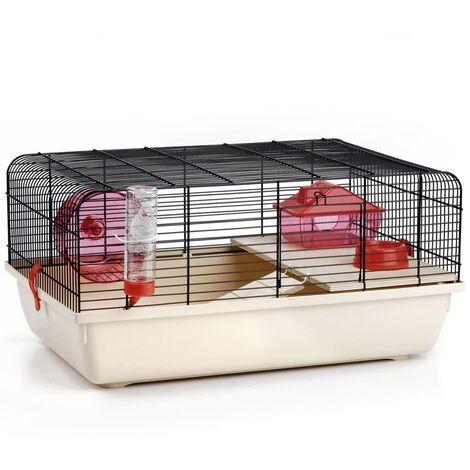 Beeztees Rodent Cage Rex Black/Beige 59x38x29 cm Metal - Black