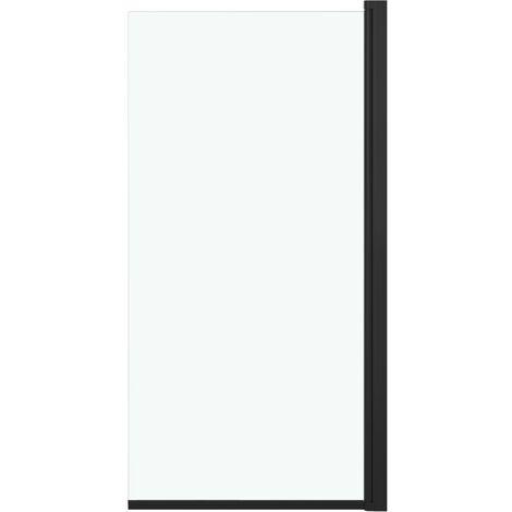 vidaXL Shower Enclosure ESG 68x130 cm Black