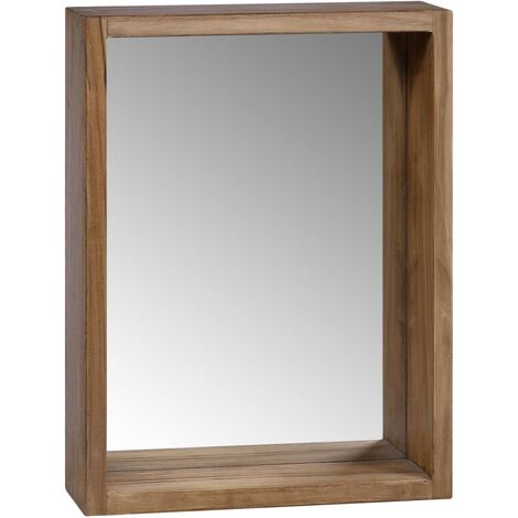 vidaXL Mirror Cabinet 30x10x40 cm Solid Teak Wood - Brown