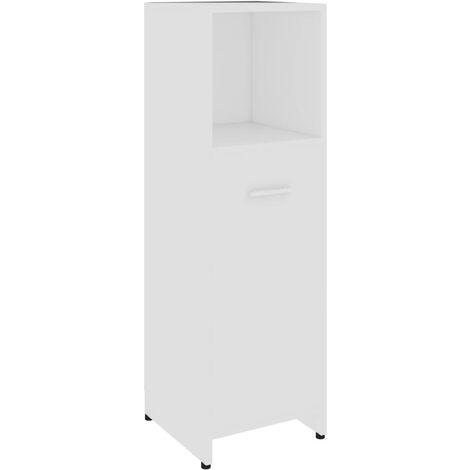 vidaXL Bathroom Cabinet White 30x30x95 cm Chipboard - White