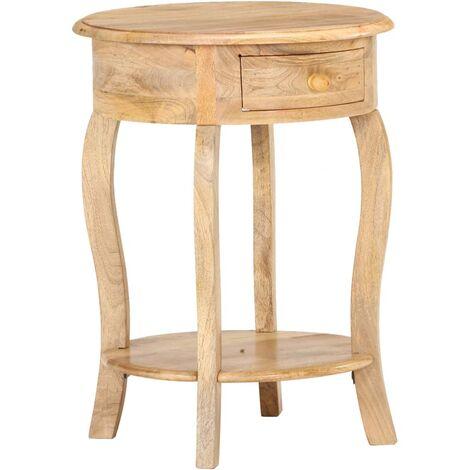 vidaXL Side Table 37x37x61 cm Solid Mango Wood - Brown