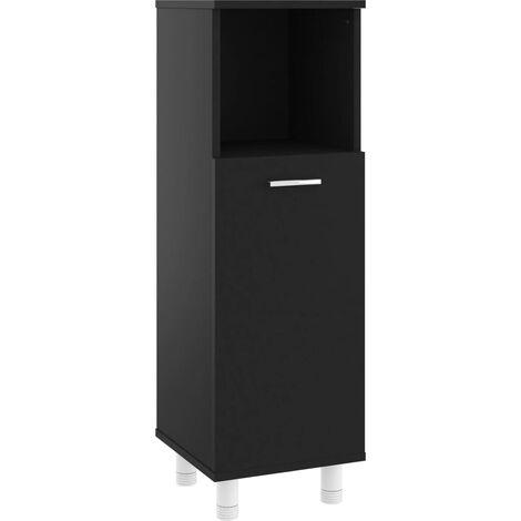 vidaXL Bathroom Cabinet Black 30x30x95 cm Chipboard - Black