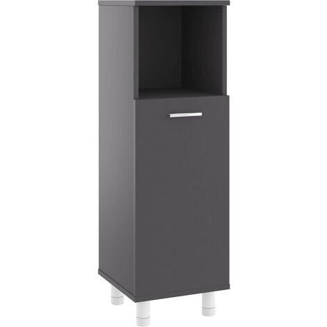 vidaXL Bathroom Cabinet Grey 30x30x95 cm Chipboard - Grey