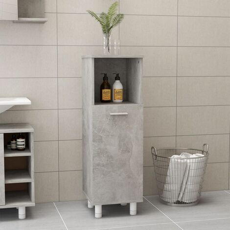 vidaXL Bathroom Cabinet Concrete Grey 30x30x95 cm Chipboard - Grey