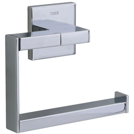 Tiger Toilet Roll Holder Items Chrome 281520346 - Silver