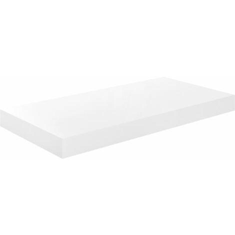 vidaXL Floating Wall Shelf MDF High Gloss White 50x23x3.8 cm - White