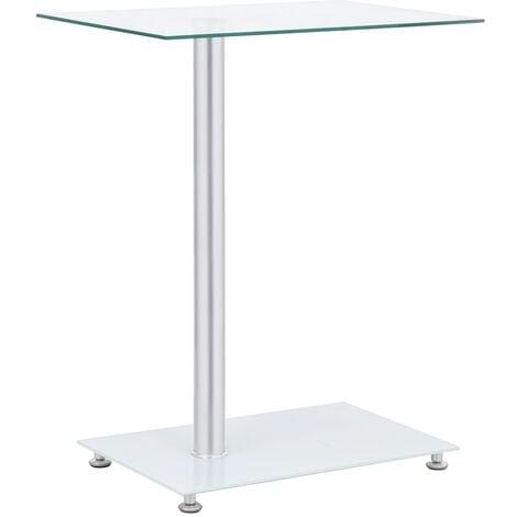 vidaXL U-Shaped Side Table Transparent 45x30x58 cm Tempered Glass - Transparent