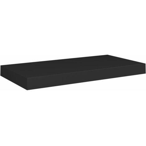 vidaXL Floating Wall Shelf MDF Black 50x23x3.8 cm - Black