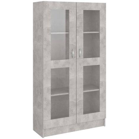 vidaXL Vitrine Cabinet Concrete Grey 82.5x30.5x150 cm Chipboard - Grey