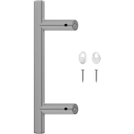 vidaXL Door Bar 300 mm Stainless Steel - Silver