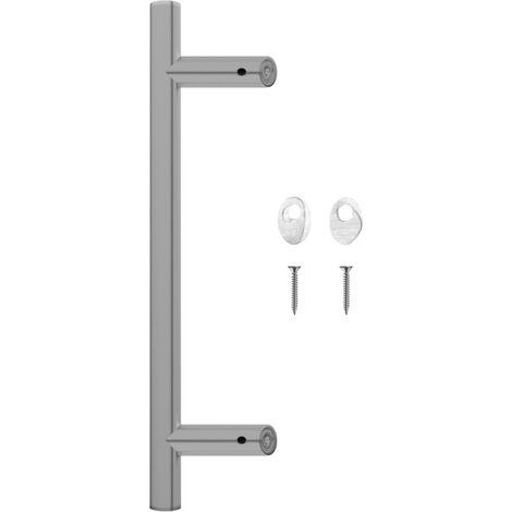 vidaXL Door Bar 400 mm Stainless Steel - Silver