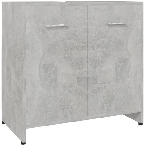 vidaXL Bathroom Cabinet Concrete Grey 60x33x58 cm Chipboard - Grey