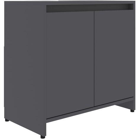 vidaXL Bathroom Cabinet Grey 60x33x58 cm Chipboard - Grey