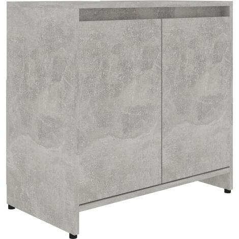 vidaXL Bathroom Cabinet Concrete Grey 60x33x58 cm Chipboard - Grey