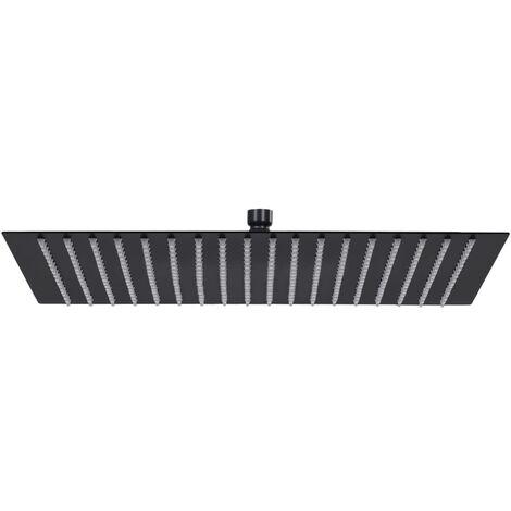 vidaXL Rain Shower Head Stainless Steel 50x50 cm Square Black