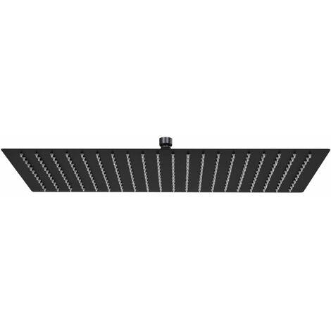 vidaXL Rain Shower Head Stainless Steel 50x30 cm Rectangular Black