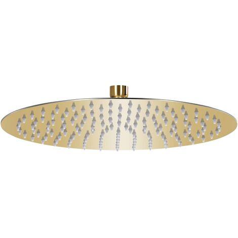 vidaXL Rain Shower Head Stainless Steel 30 cm Round Gold - Gold