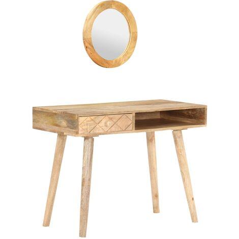 vidaXL Dressing Table 100x50x76 cm Solid Mango Wood - Brown