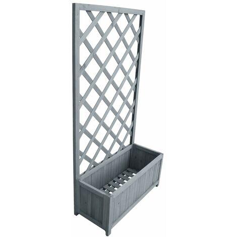 vidaXL Trellis Planter 30x70x135 cm Solid Firwood - Grey