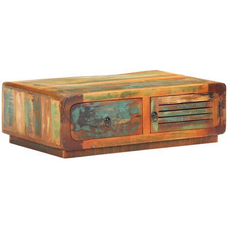 vidaXL Coffee Table 90x60x29 cm Solid Reclaimed Wood