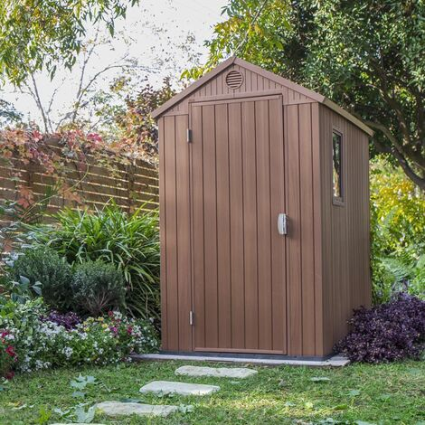Keter Garden Shed Darwin 4x6 Woodlook - Brown