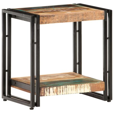 vidaXL Side Table 40x30x40 cm Solid Reclaimed Wood - Multicolour