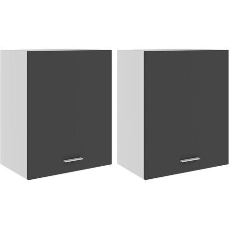 vidaXL Hanging Cabinets 2 pcs Grey 50x31x60 cm Chipboard - Grey