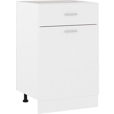 vidaXL Drawer Bottom Cabinet White 50x46x81.5 cm Chipboard - White