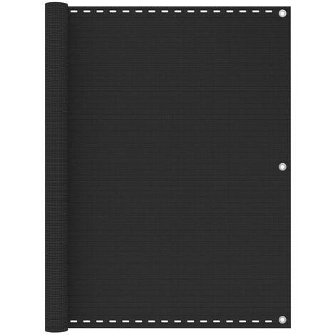 vidaXL Balcony Screen Anthracite 120x600 cm HDPE - Anthracite