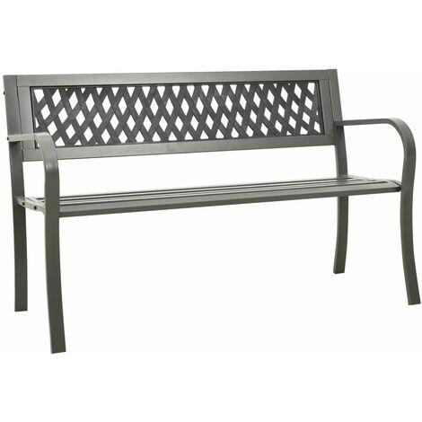 vidaXL Garden Bench 125 cm Steel Grey - Grey