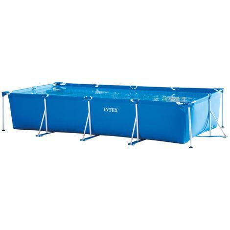 Intex Swimming Pool Rectangular Frame 450x220x84 cm