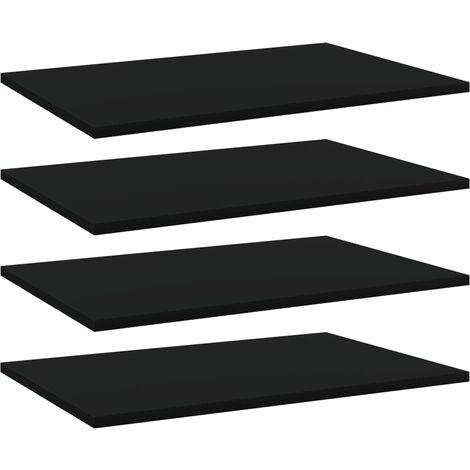 vidaXL Bookshelf Boards 4 pcs Black 60x40x1.5 cm Chipboard - Black