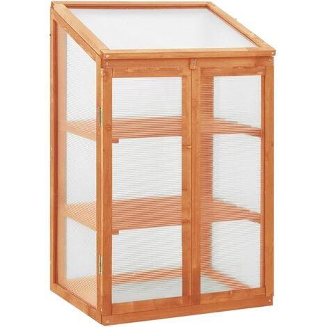 vidaXL Greenhouse 60x45x100 cm Firwood - Brown