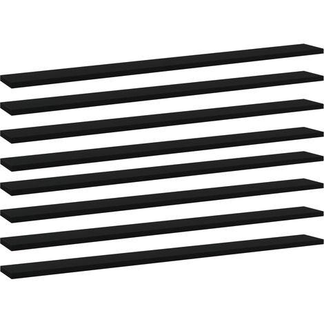 vidaXL Bookshelf Boards 8 pcs Black 100x10x1.5 cm Chipboard - Black