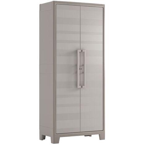 Keter Storage Cabinet with shelves Gulliver Beige and Brown 182 cm - Beige
