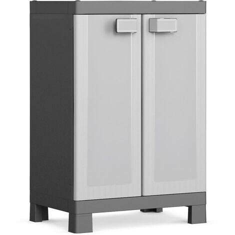 Keter Low Storage Cabinet Logico Black and Grey 97 cm - Black