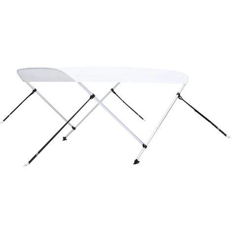vidaXL 2 Bow Bimini Top White 180x150x110 cm
