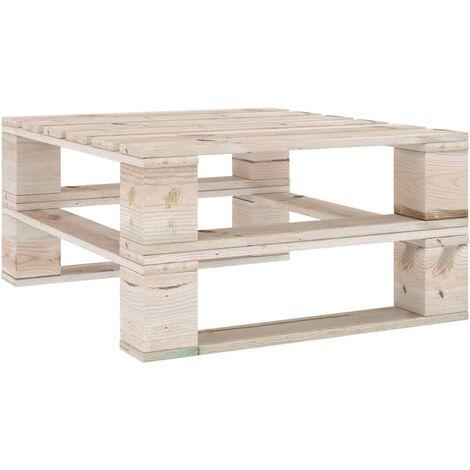 vidaXL Garden Pallet Table Impregnated Pinewood - Brown