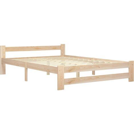 vidaXL Bed Frame Solid Pine Wood 160x200 cm - Brown