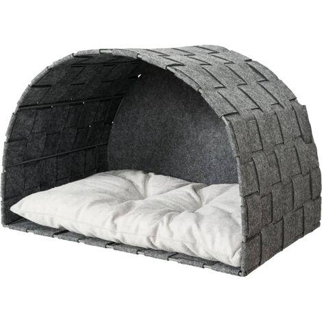 TRIXIE Cat Cave for Wall Mounting Lennie 45x45x30 cm Felt Grey - Grey