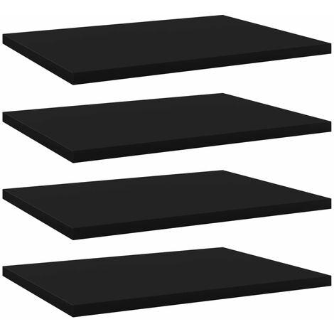 vidaXL Bookshelf Boards 4 pcs Black 40x30x1.5 cm Chipboard - Black