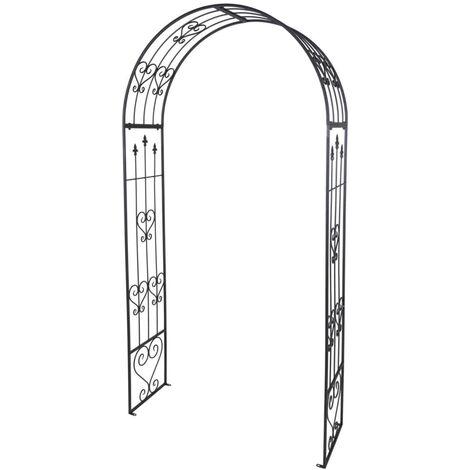 ProGarden Rose Arch Metal 136 cm Anthracite - Anthracite
