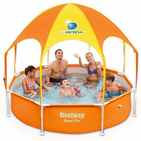 Bestway Splash-in-Shade Play Pool 244x51 cm 56432 - Orange