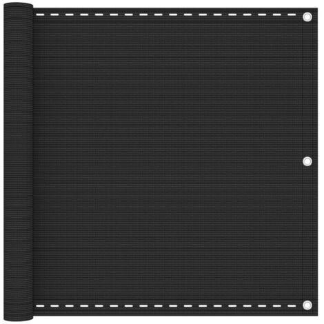 vidaXL Balcony Screen Anthracite 90x300 cm HDPE - Anthracite